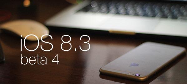 Download iOS 8.3 Beta 4 (12F5061) for iPhone, iPad, iPod & Apple TV via Direct Links