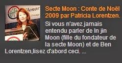 Secte Moon : Conte de Noël 2009 par Patricia Lorentzen.