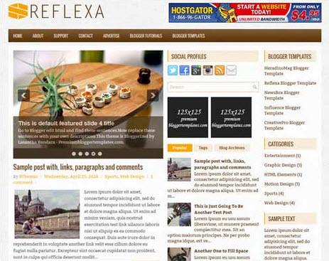 Reflexa Free Blogger Template