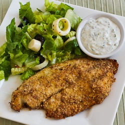 Kalyn's Kitchen®: Low-Carb Almond and Parmesan Baked Fish