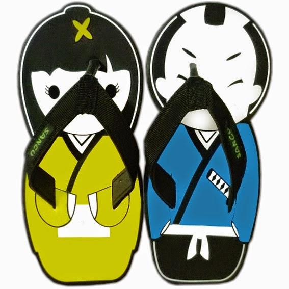 Motif Sandal Sancu Oshin & samurai