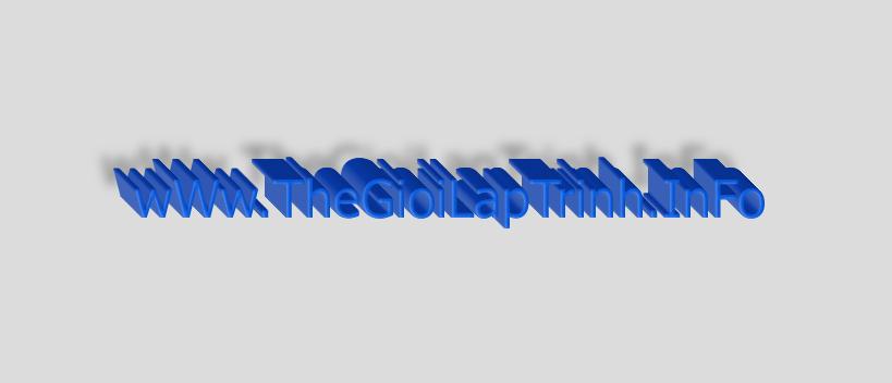Action tạo chữ 3D cực đẹp trong photoshop