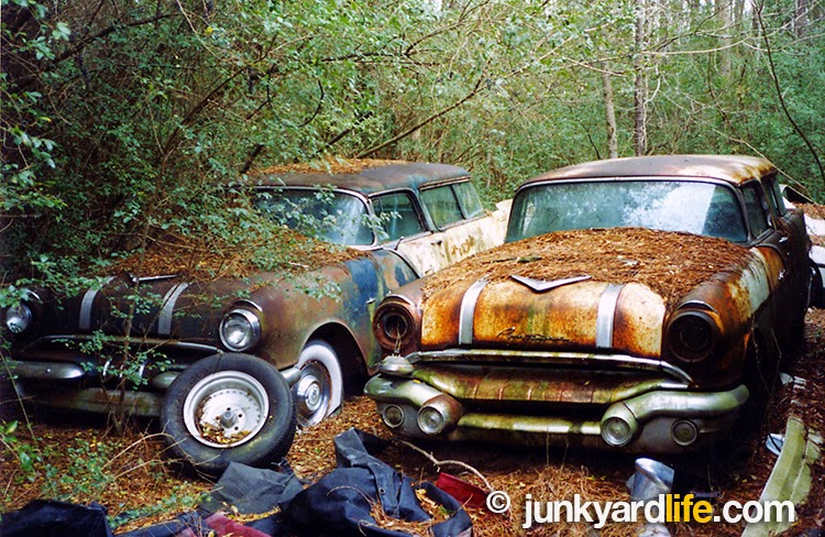 Two, rare, two-door Pontiac wagons were stashed on some wooded property in Alabama. A Pontiac Safari scavenger hunt led to negotiations with the owner to buy the rare wagons.