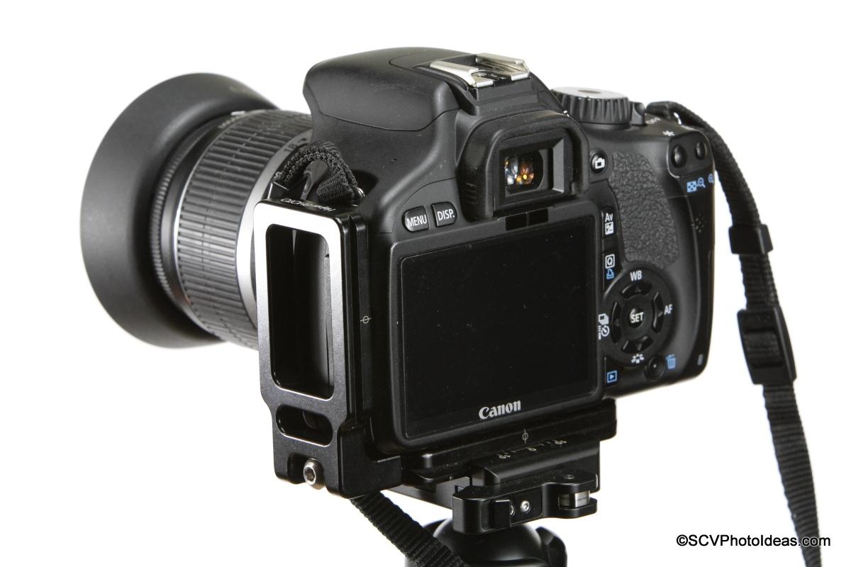 Hejnar L Bracket 22 on Canon EOS 550D flush - clamped landscape