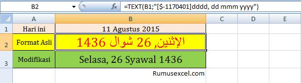 Konversi Masehi ke Hijriah dengan Excel