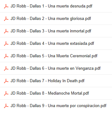 Descargar Novelas De  JD Robb  En PDF