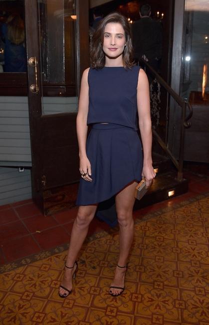 Colbie Smulders in black NUDIST Stuart Weitzman sandals