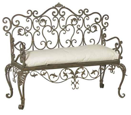 Art and interior wrought iron beds and other metal furniture for Wrought iron furniture