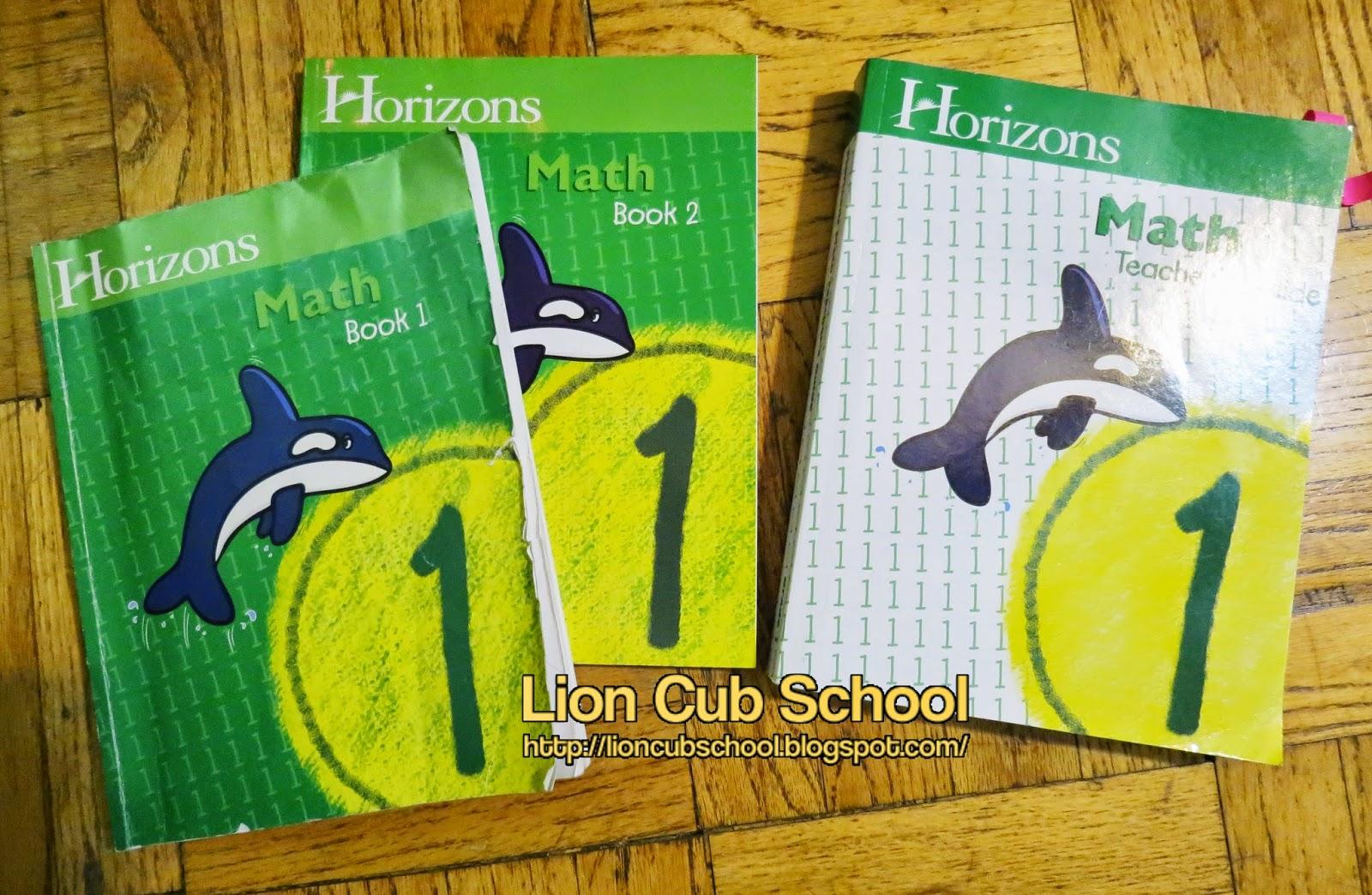 Worksheet Grade 1 Math Curriculum lion cub school homeschool curriculum review horizon math grade 1 1