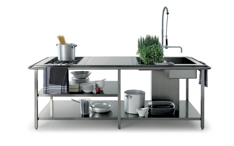 Mesa de trabajo para cocina mesa de trabajo de cocina de for Mesa trabajo cocina