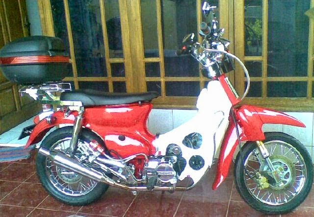 modifikasi honda 70 krom