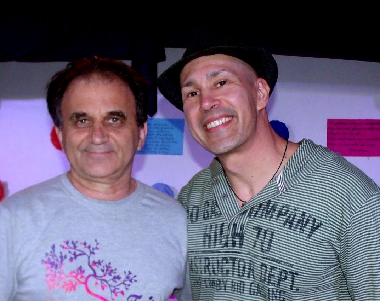 Airton Engster dos Santos e escritor André Neves
