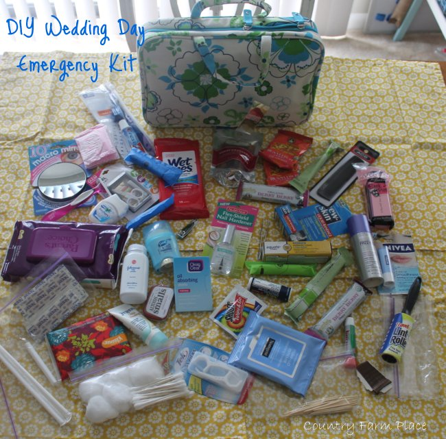 Wedding Emergency Kit: Country Farm Place: DIY Wedding Day Emergency Kit