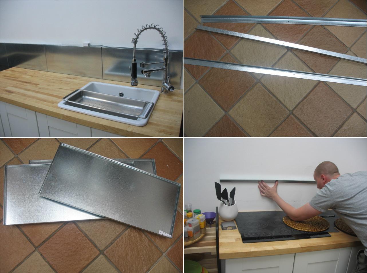 Ikea hack frente de cocina con las estanter as met licas for Frente cocina