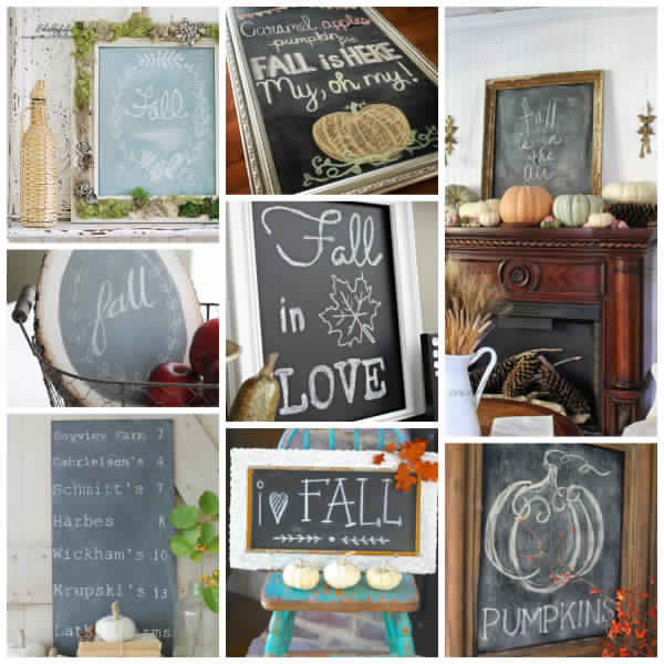 80+ Fall Chalkboard Ideas