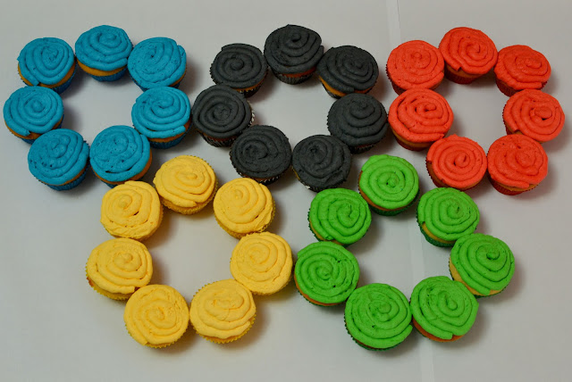 olympic ring cupcakes