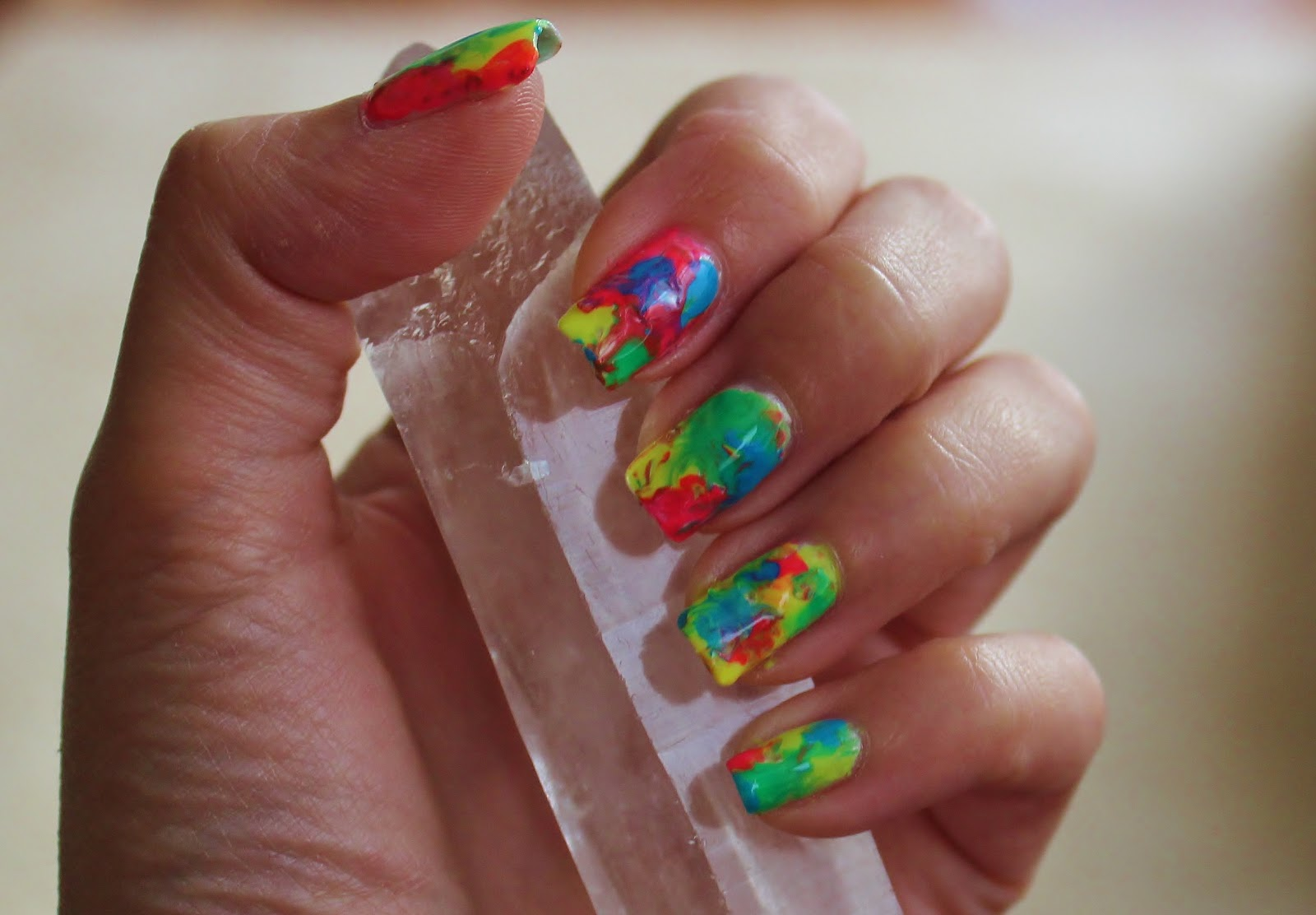 Simple Nail Art For Newbies Hippie Tie Dye Nails