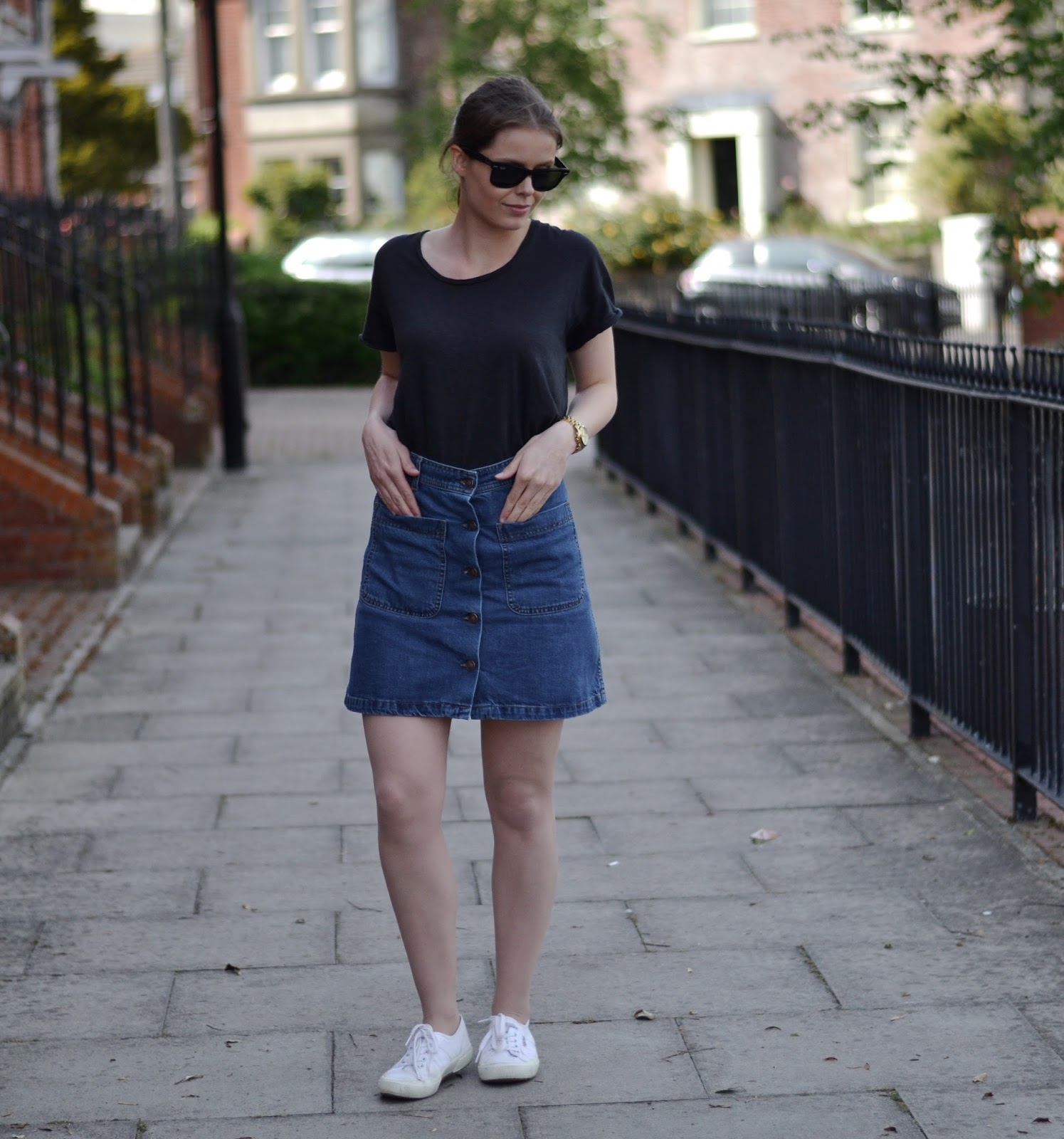 button down denim skirt itslilylocket