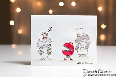 Silly Bears Grilling Card by Taheerah Atchia | Winstons BBQ Stamp set by Newton's Nook Designs