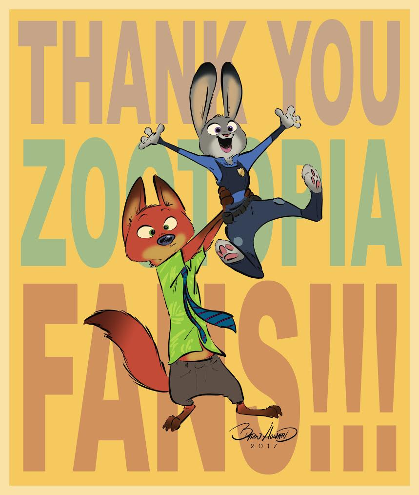 Celebrating One Year of Zootopia!  (With New Art by Byron Howard!)