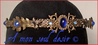 couronne médiévale renaissance tiare diadème elfique medieval crown elven tiare diadem