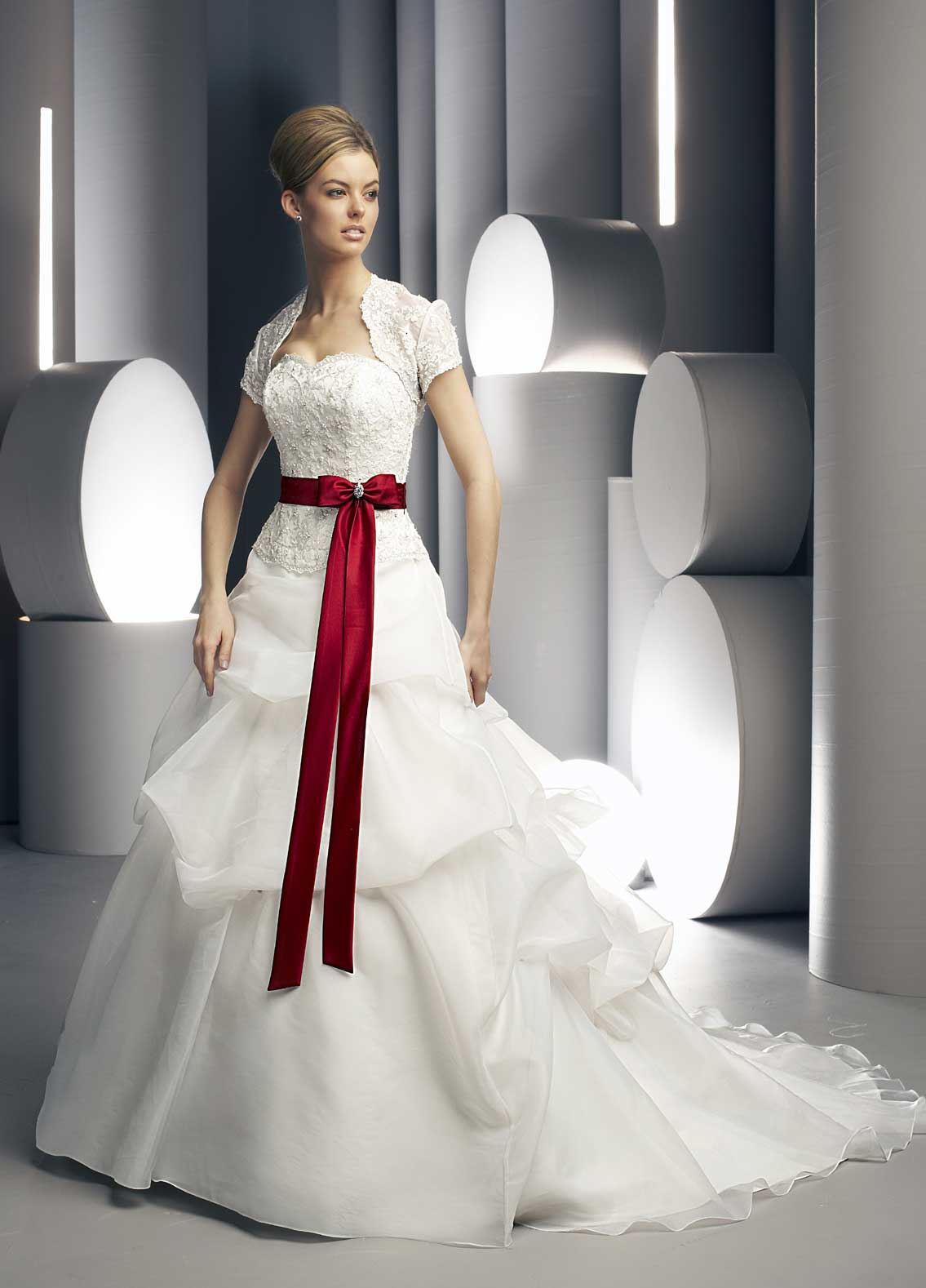 Jewelry designs bridal gowns designs with red shade for Design wedding dress online