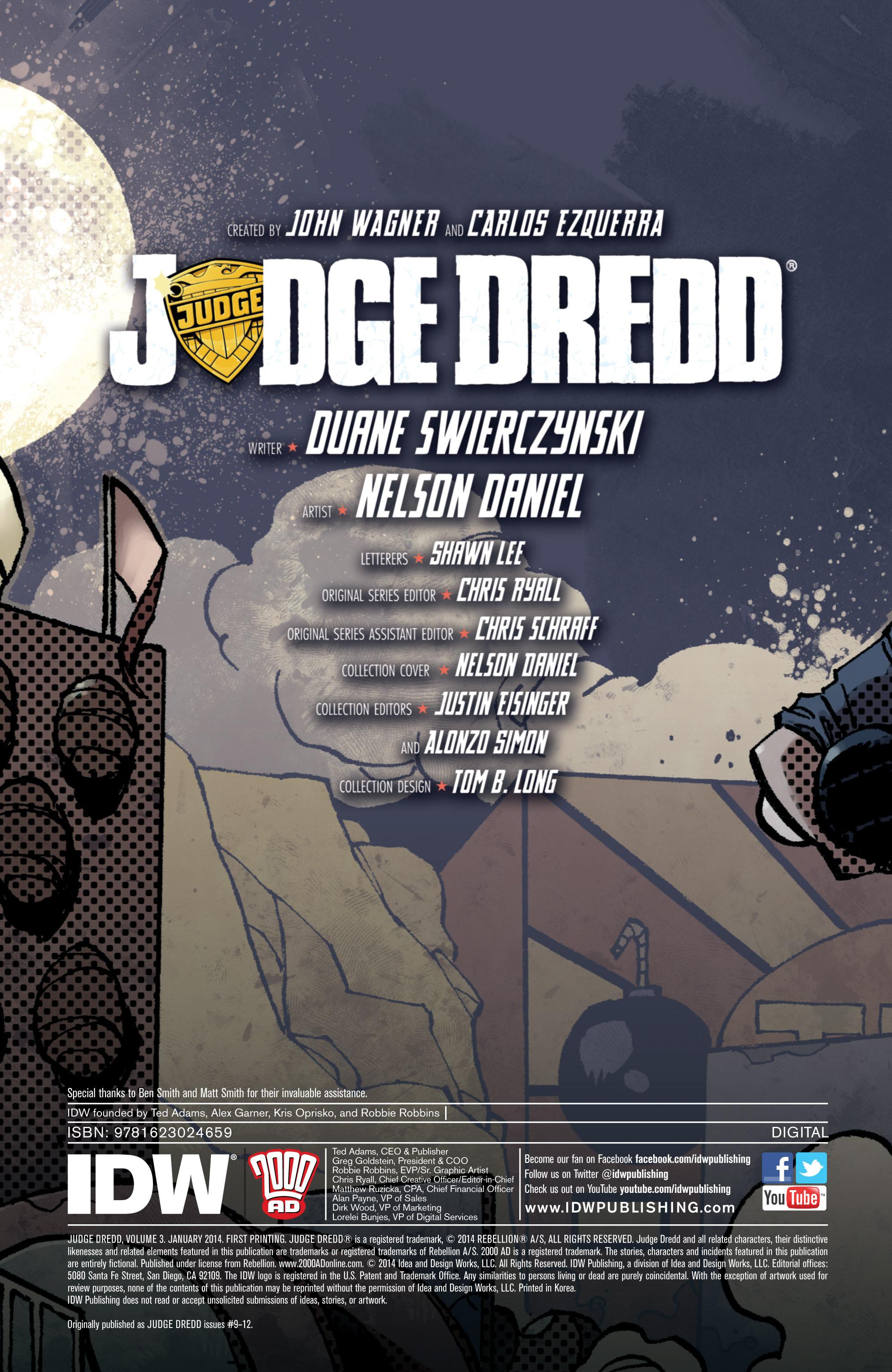 Read online Judge Dredd (2012) comic -  Issue # _TPB 3 - 3