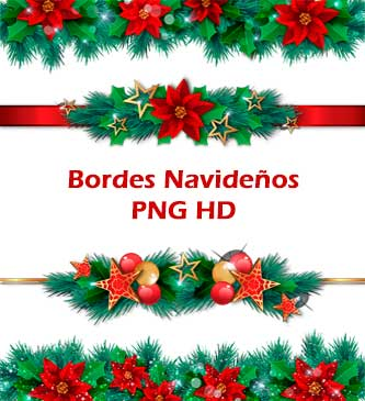Bordes, Navideños, PNG, HD