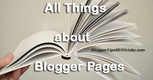 how to write blogger static pages
