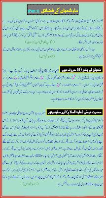 Maheena-E-Shaban Key Faziey