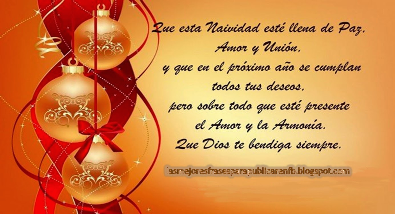 Frases De Navidad Que Esta Navidad Esté Llena De Paz Amor Y Uni³n