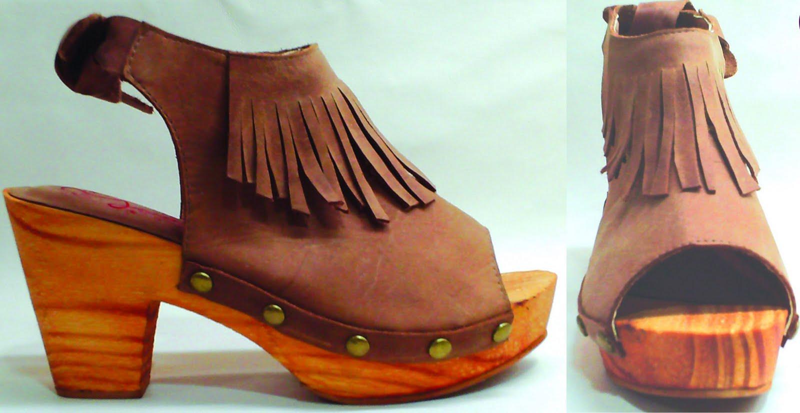 Moda Zuecos De Madera