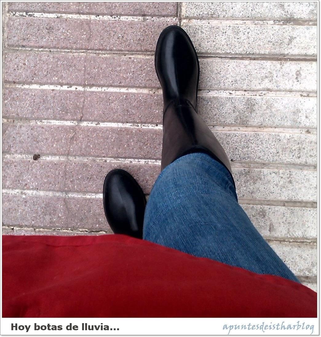 con botas de agua en instagram