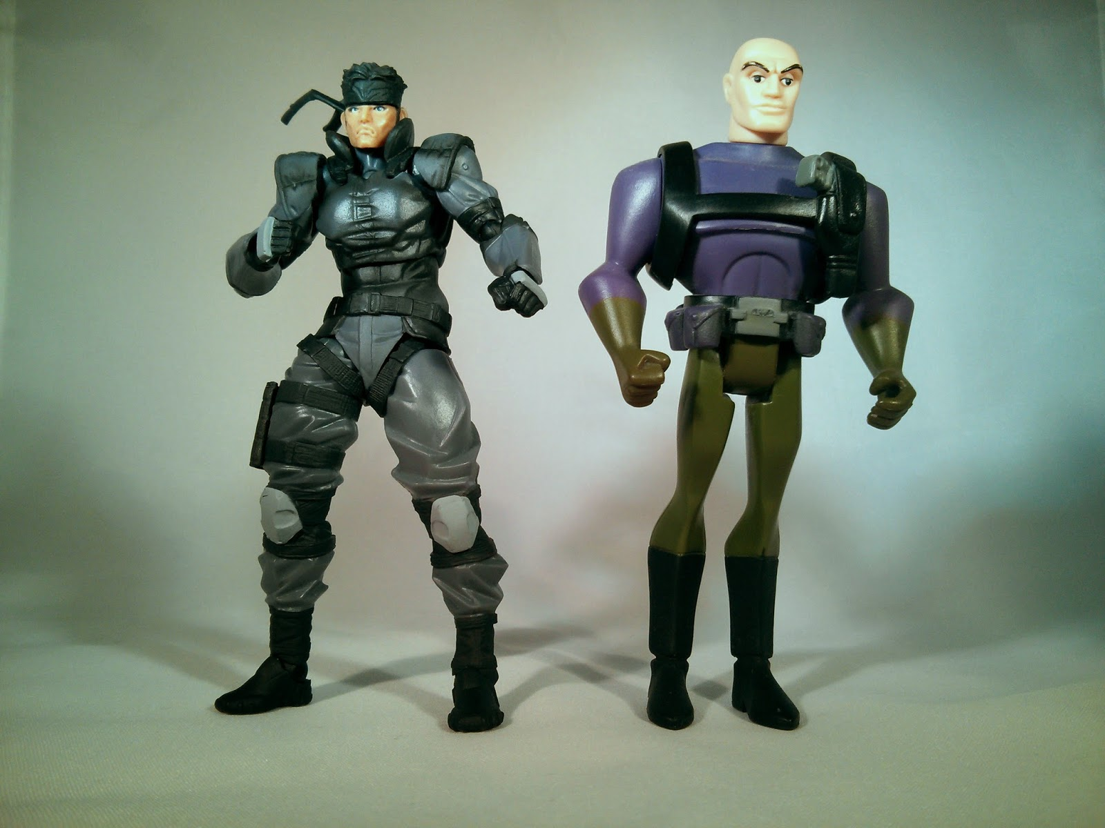 comparing the size with lex luthor