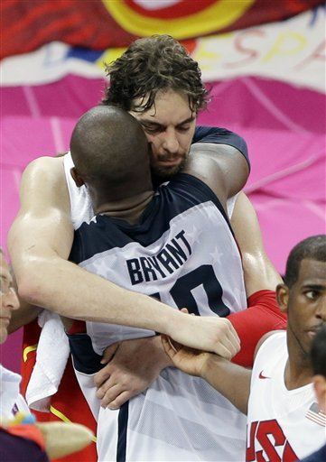 Kobe and Gasol Gold Medal Game