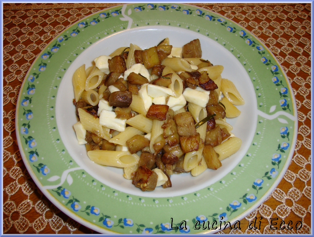 pasta con melanzane e mozzarella - la cucina di ecco - Cucinare Qualcosa Di Veloce
