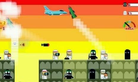 Game Bomb Gaza (Gambar: Republika)