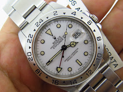ROLEX EXPLORER II WHITE POLAR DIAL 40mm - ROLEX 16570 SERIE E YEAR 1991 GOOD PATINE INDEX