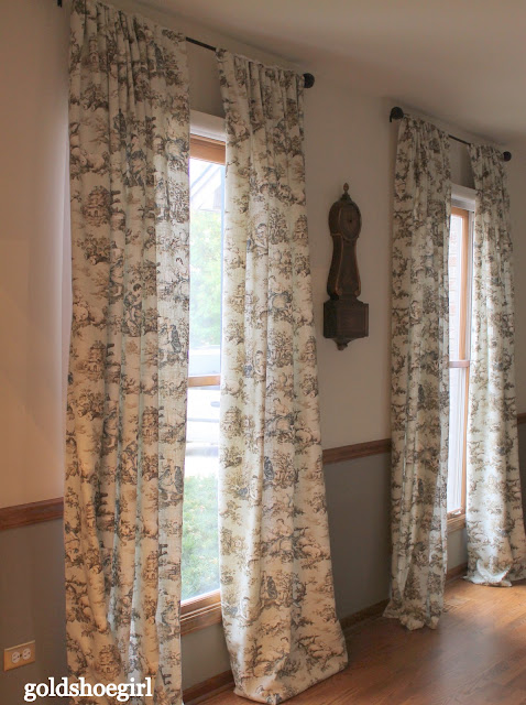 Gold Shoe Girl Custom Curtains For The Dining Room