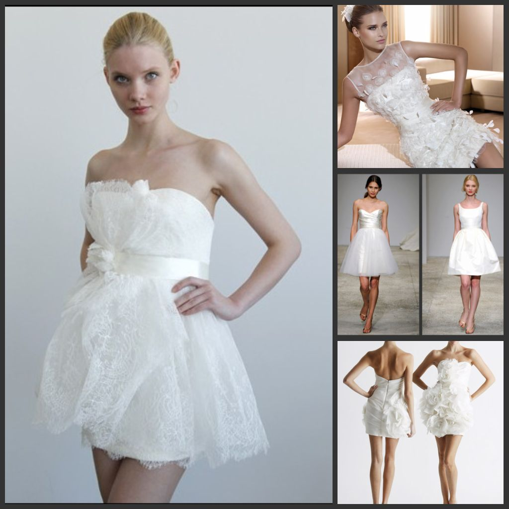 Fancy Vestidos Novia Cortos Adornment - Wedding Dress - googeb.com