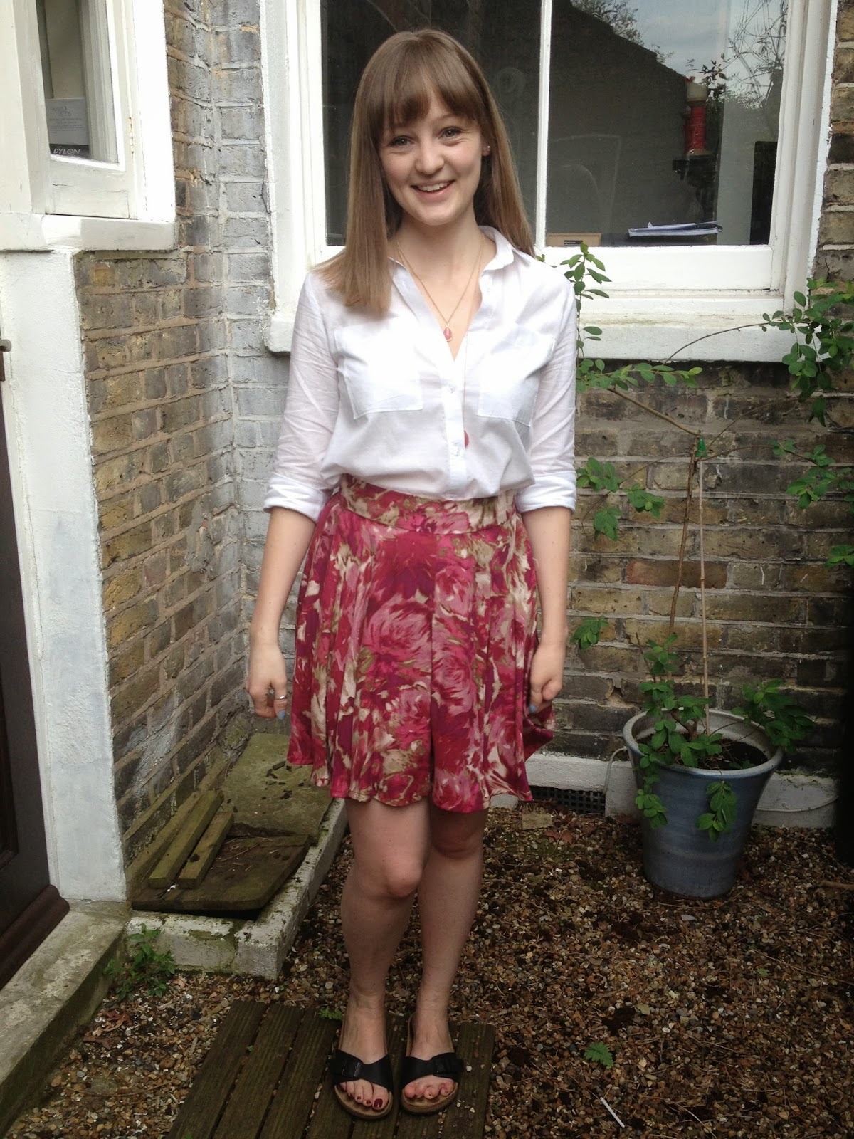 Diary of a Chainstitcher Floral Megan Nielsen Tania Culottes