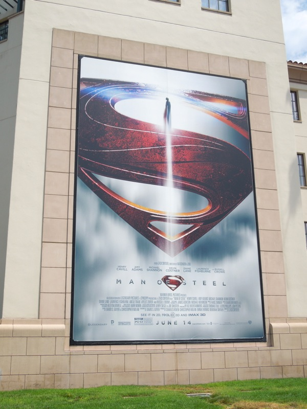 Man of Steel Superman sigil billboard