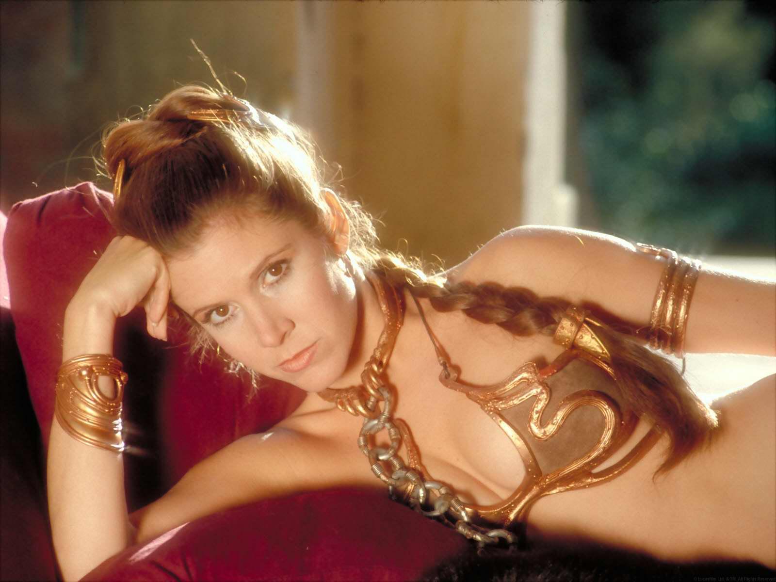 Princess leia bikini scene