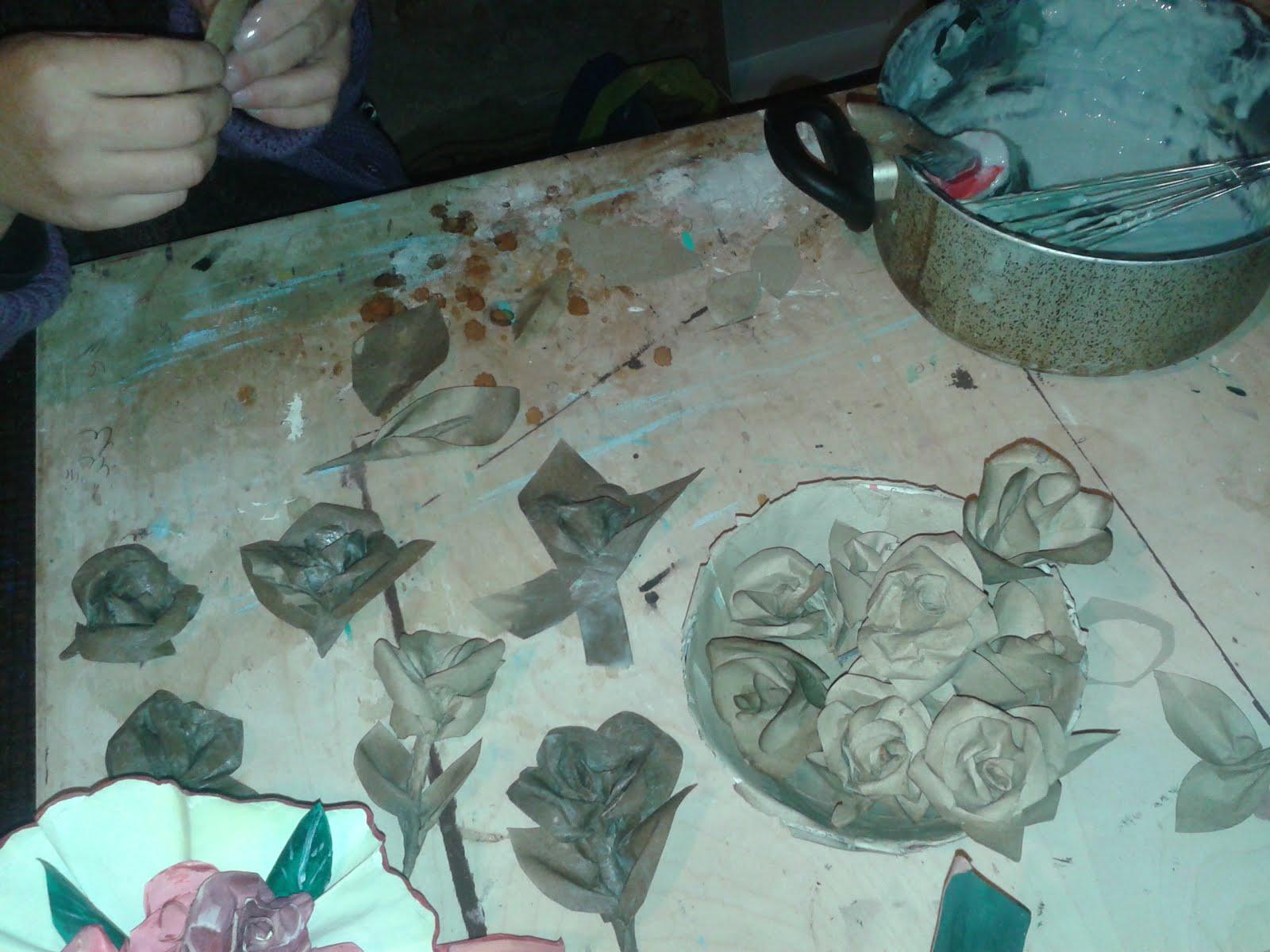 lavorazione della cartapesta