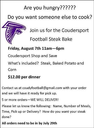 8-7 Coudersport Football Steak Bake