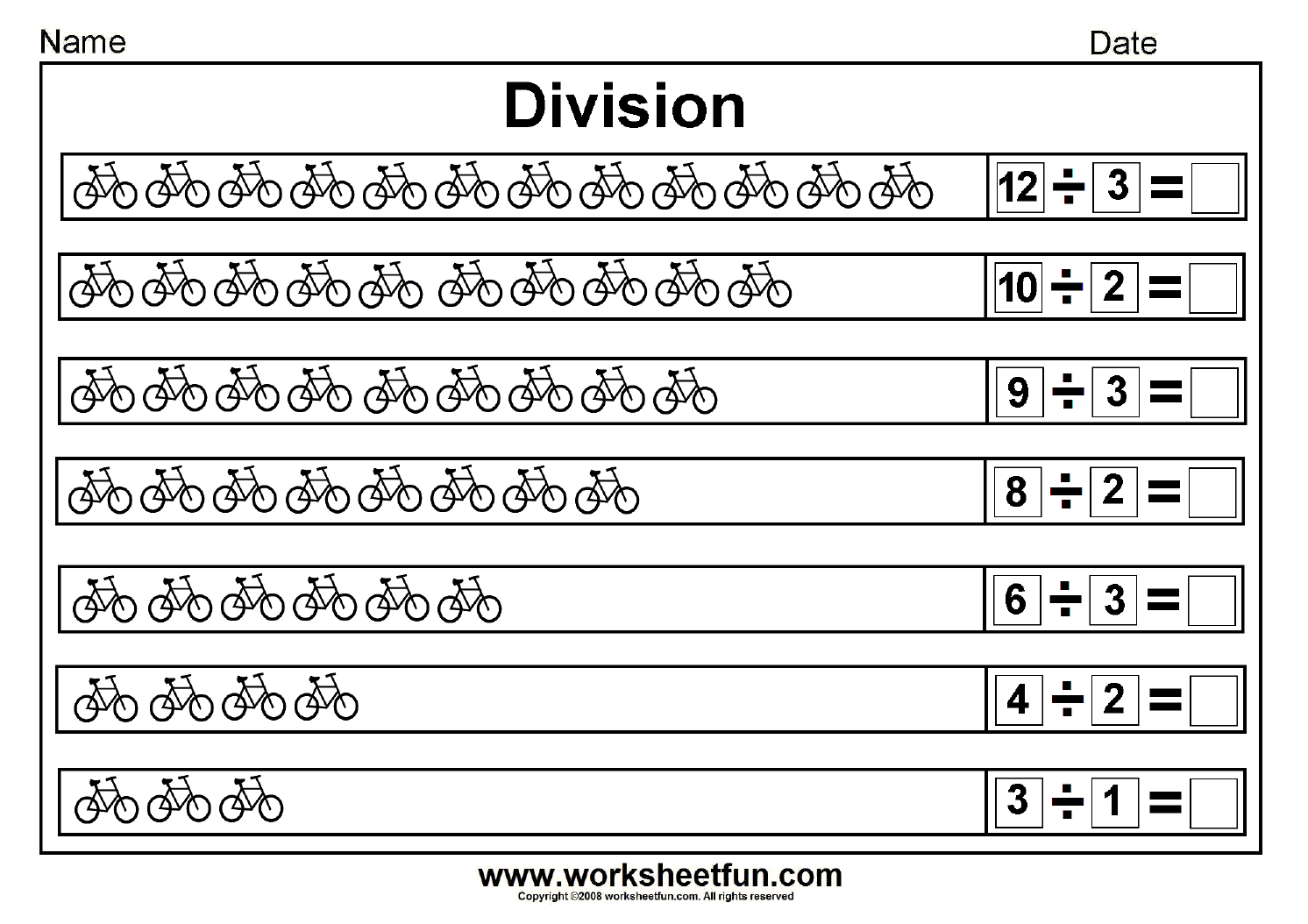 Grade Division Worksheets