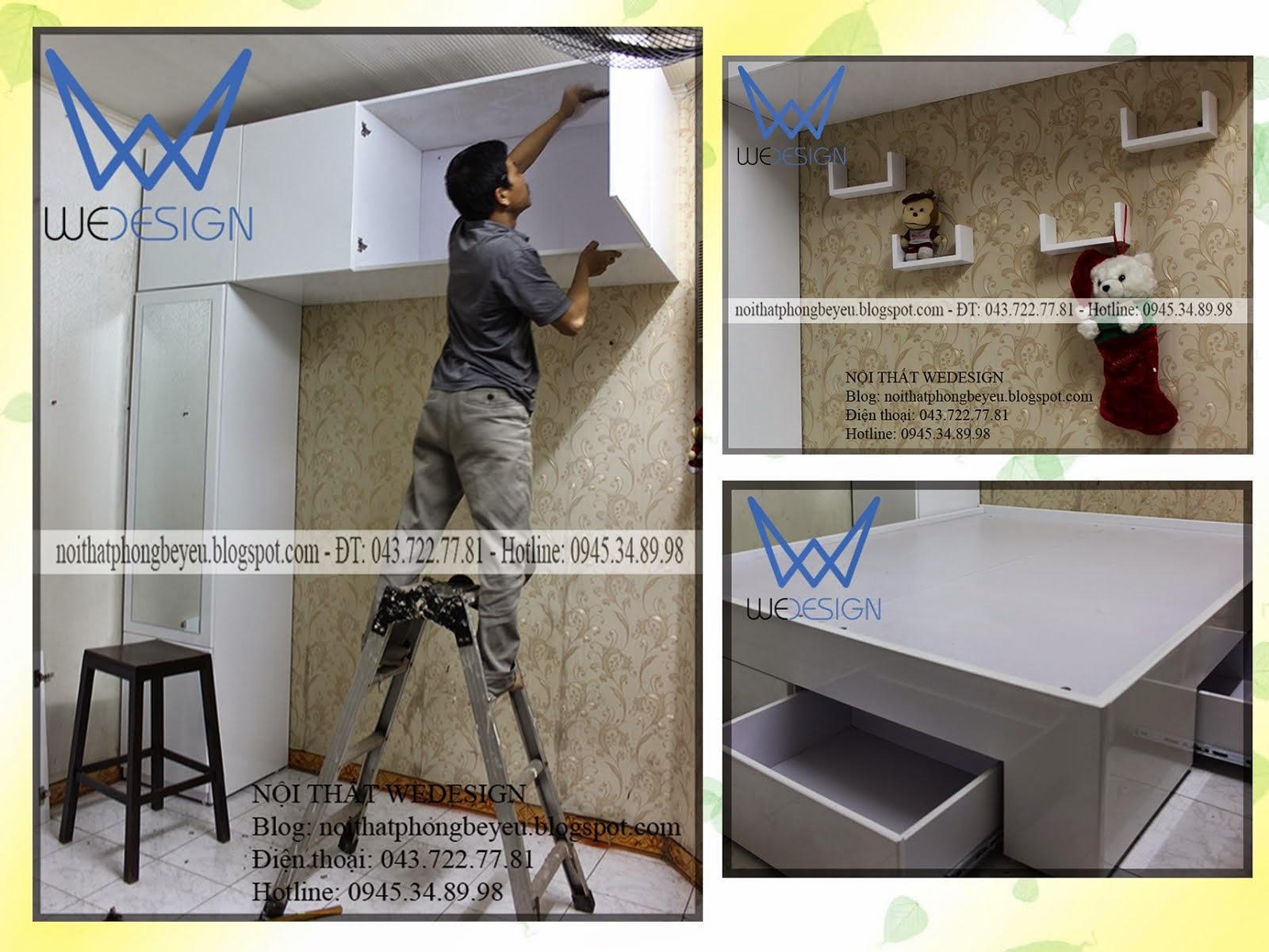 Phòng ngủ 2m4x3m3 gọn xinh