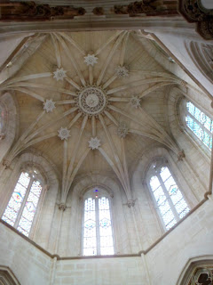 Domed ceiling in Batalha monastery Portugal