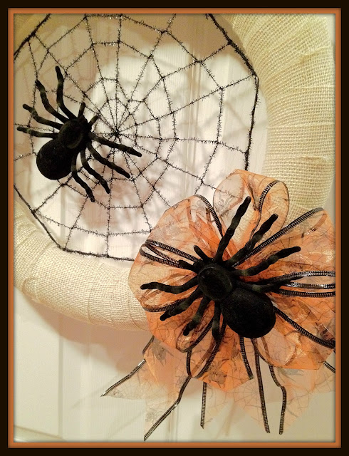 burlap, Halloween, Wreath, Spider, Halloween Decor