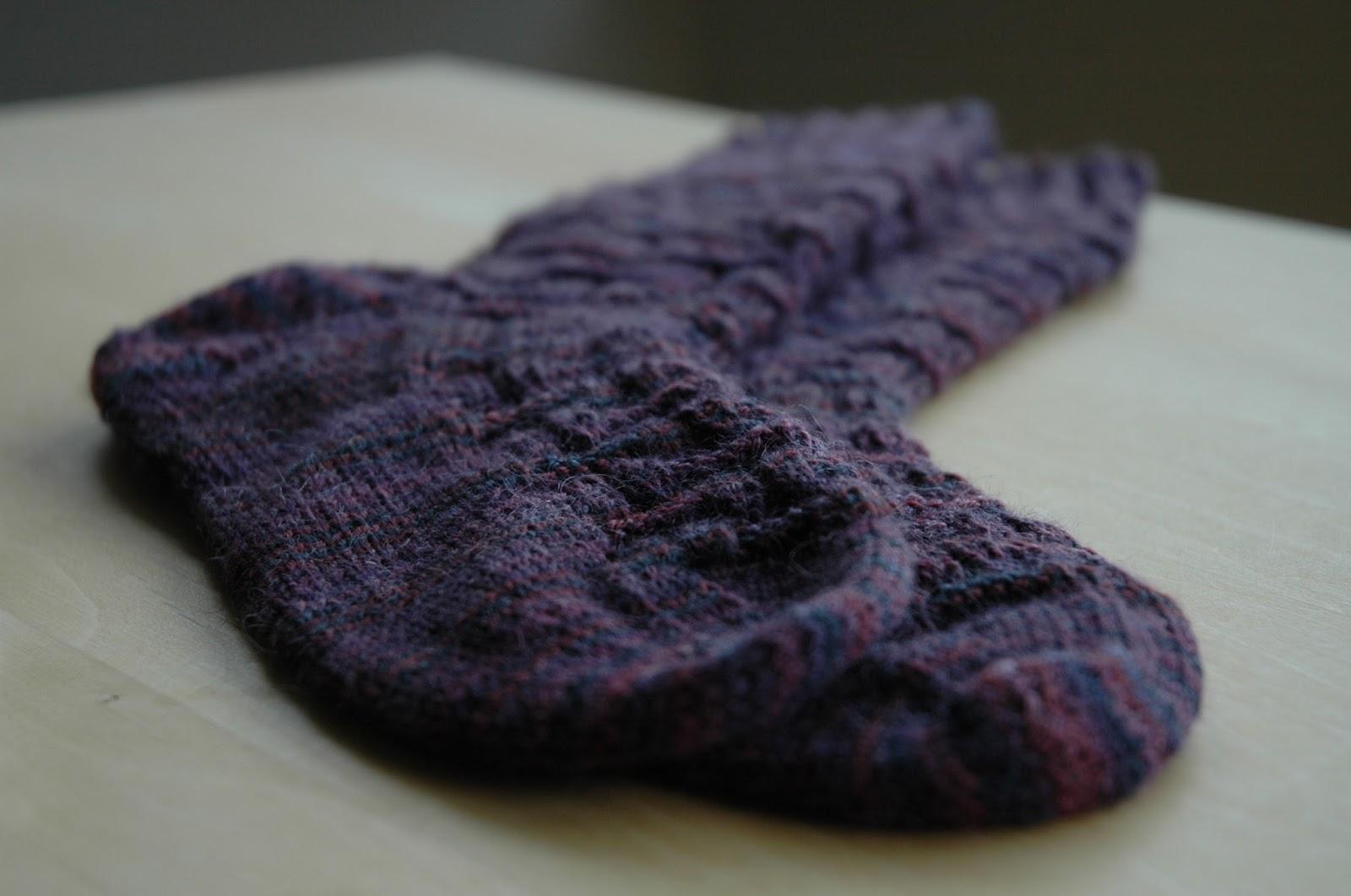 Bricker socks, Rowan fine art sock yarn